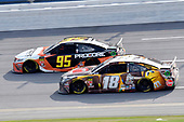 #95: Matt DiBenedetto, Leavine Family Racing, Toyota Camry Procore #18: Kyle Busch, Joe Gibbs Racing, Toyota Camry M&M's Chocolate Bar