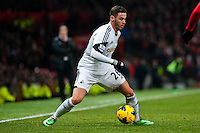 Saturday 11 January 2014 Pictured: Alvaro Vasquez of Swansea<br /> Re: Barclays Premier League Manchester Utd v Swansea City FC  at Old Trafford, Manchester