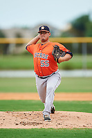 GCL Astros starting pitcher Juan Robles (55) during a game against the GCL Nationals on August 14, 2016 at the Carl Barger Baseball Complex in Viera, Florida.  GCL Nationals defeated GCL Astros 8-6.  (Mike Janes/Four Seam Images)