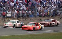 action Darrell Waltrip Kyle Petty  Ken Schrader Pepsi Firecracker 400 at Daytona International Speedway in Daytona Beach, FL in July 1988. (Photo by Brian Cleary/www.bcpix.com)