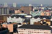 View across Lisson Green Estate and Church Street ward in the City of Westminster, London. The council's social housing is managed by CityWest Homes.