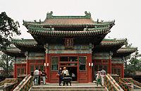 China, Runde Stadt, Halle der Erleuchtung im Bei Hai-Park in Peking