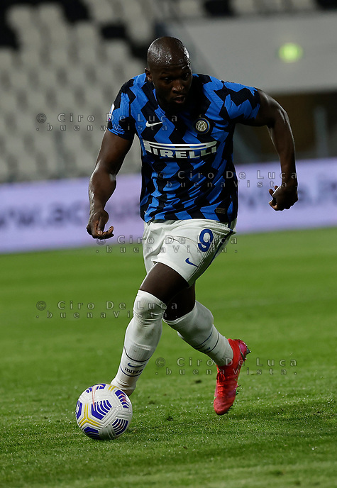 Romelu Lukaku of Inter  during the  italian serie a soccer match,Spezia Inter Milan at  the STadio Picco in La Spezia Italy ,