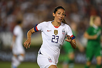 PASADENA, CALIFORNIA - August 03: Christen Press #23 during their international friendly and the USWNT Victory Tour match between Ireland and the United States at the Rose Bowl on August 03, 2019 in Pasadena, CA.