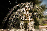 A little camera technique turns a park water fountain into an abstract creation.