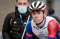 runner-up Jake Stewart (GBR/Groupama - FDJ) post-finish<br /> <br /> 76th Omloop Het Nieuwsblad 2021<br /> ME(1.UWT)<br /> 1 day race from Ghent to Ninove (BEL): 200km<br /> <br /> ©kramon