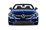 Car photography straight front view of a 2018 Mercedes Benz C-Class C-300 2 Door Convertible Front View