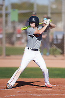 Connor Moylan (48), from Novato, California, while playing for the Indians during the Under Armour Baseball Factory Recruiting Classic at Gene Autry Park on December 30, 2017 in Mesa, Arizona. (Zachary Lucy/Four Seam Images)