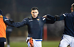 St Johnstone v Aberdeen…27.01.21   McDiarmid Park   SPFL<br />Michael O'Halloran warms up with Murray Davidson and Jamie McCart<br />Picture by Graeme Hart.<br />Copyright Perthshire Picture Agency<br />Tel: 01738 623350  Mobile: 07990 594431