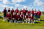 The Ballybunion side who defeated Killarney in the first of the Semi Finals of the Dr Billy O'Sullivan at Waterville Golf Links on Monday were front l-r; Mike Barry, Miley Costello, Mark O'Brien, Mike Jones, Gerry Enright, Sean Walsh, back l-r; Sean Healy, Edward Costello, Tommy Healy, Joe Sweeney, John Shier, Padraig Hogan, Tom Buckley, Joe Costello, Ger Rowan, John Nolan & Brendan Lynch(Manager).