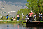 "Breast cancer survivors and their ""river buddies"" fly fish together during the the Casting for Recovery fishing clinic at Bently Ranch in Gardnerville, Nev. May 4, 2018.<br /> Photo by Candice Vivien/Nevada Momentum"