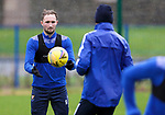St Johnstone Training…<br />Chris Kane pictured with Murray Davidson during training at McDiarmid Park ahead of Saturdays game against Motherwell.<br />Picture by Graeme Hart.<br />Copyright Perthshire Picture Agency<br />Tel: 01738 623350  Mobile: 07990 594431