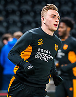 Hull City's forward Jarrod Bowen (20) during the Sky Bet Championship match between Hull City and Sheff United at the KC Stadium, Kingston upon Hull, England on 23 February 2018. Photo by Stephen Buckley / PRiME Media Images.