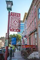 Chinatown Street Sign, Washington DC, USA.