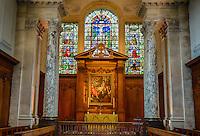 UK, England, Cambridge.  Pembroke College, The Wren Chapel, by Christopher Wren, consecrated 1665.