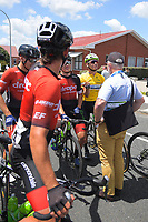 Jensen Plowright and Aaron Gate after Stage Three - Te ara roa (Te Awamutu circuit). 2019 Grassroots Trust NZ Cycle Classic UCI 2.2 Tour from Te Awamutu in Cambridge, New Zealand on Friday, 25 January 2019. Photo: Dave Lintott / lintottphoto.co.nz
