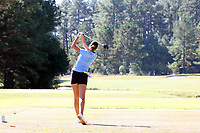 CHAPEL HILL, NC - OCTOBER 11: Ava Bergner of the University of North Carolina tees off at UNC Finley Golf Course on October 11, 2019 in Chapel Hill, North Carolina.