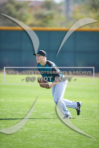 Nicholas Hoekstra (15) of Roosevelt High School in Sioux Falls, South Dakota during the Under Armour All-American Pre-Season Tournament presented by Baseball Factory on January 14, 2017 at Sloan Park in Mesa, Arizona.  (Mike Janes/Mike Janes Photography)