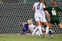 Baylor forward Bri Campos (10) scores on a cross by defender Precious Akanyirige (2) during first half of an NCAA soccer game, Friday, October 03, 2014 in Waco, Tex. TCU draw 1-1 against Baylor in double overtime. (Mo Khursheed/TFV Media via AP Images)