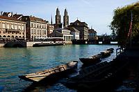 Switzerland, Zürich, Zürich, Limmat river