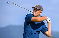 Brodie Ferguson. Day one of the Renaissance Brewing NZ Stroke Play Championship at Paraparaumu Beach Golf Club in Paraparaumu, New Zealand on Thursday, 18 March 2021. Photo: Dave Lintott / lintottphoto.co.nz