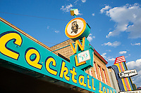 Vintage signs - Owl Cocktail Lounge - Empire Theater - Livingston, Montana