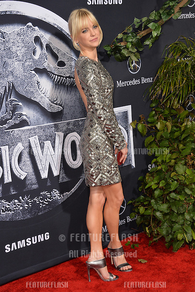 """Anna Faris at the world premiere of """"Jurassic World"""" at the Dolby Theatre, Hollywood.<br /> June 10, 2015  Los Angeles, CA<br /> Picture: Paul Smith / Featureflash"""