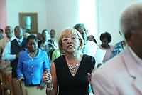 Community leader Mozell Booker in her community of Fluvanna County, Va. Photo/Andrew Shurtleff