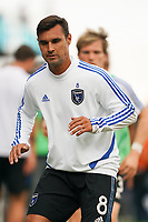 SAN JOSE, CA - SEPTEMBER 29: Chris Wondolowski #8 of the San Jose Earthquakes prior to a Major League Soccer (MLS) match between the San Jose Earthquakes and the Seattle Sounders on September 29, 2019 at Avaya Stadium in San Jose, California.