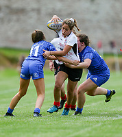 24 August 2019; Sarah Shrestha during the Under 18 Girls Interprovincial Rugby Championship match between Ulster and Leinster at Armagh RFC in Armagh. Photo by John Dickson / DICKSONDIGITAL