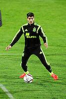 Spanish National Team's  training at Ciudad del Futbol stadium in Las Rozas, Madrid, Spain. In the pic: Alvaro Morata. March 25, 2015. (ALTERPHOTOS/Luis Fernandez) /NORTEphoto.com