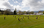 Keswick 1 Kendal 1, 15/04/2017. Fitz Park, Westmoreland League. Keswick build from the back. Photo by Paul Thompson.