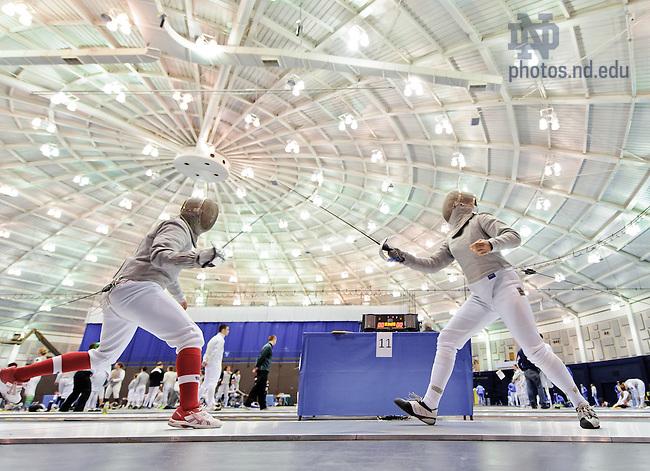 Feb. 23, 2013; Fencing: Women's saber..Photo by Matt Cashore/University of Notre Dame