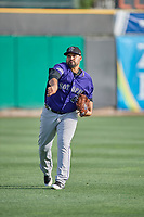 Albuquerque Isotopes starting pitcher Antonio Senzatela (49) throws before the game against the Salt Lake Bees at Smith's Ballpark on July 25, 2019 in Salt Lake City, Utah. The Bees defeated the Isotopes 8-3. (Stephen Smith/Four Seam Images)