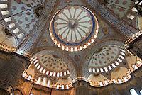 Sultanahmet Moschee in Istanbul = Sultanahmet Camii = Blaue Moschee, erbaut 1609-1615 von Mehmet Aga, ein Schüler von Sinan, Türkei, Unesco-Weltkulturerbe