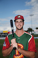 Sean Bouchard (6) of the Boise Hawks poses for a photo before a game against the Everett AquaSox at Everett Memorial Stadium on July 20, 2017 in Everett, Washington. Everett defeated Boise, 13-11. (Larry Goren/Four Seam Images)