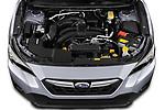 Car Stock 2021 Subaru Crosstrek - 5 Door SUV Engine  high angle detail view