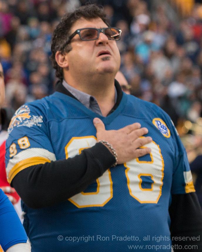 Pitt football alumnus Tony Siragusa. The Pitt Panther defeated the Duke Blue Devils 56-14 at Heinz Field in Pittsburgh, Pennsylvania on November 19, 2016.
