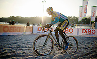 Bart Wellens (BEL/Telenet-Fidea) on his recon run<br /> <br /> Zilvermeercross 2014