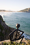 Cliff-top sculpture at Costao Santinho Eco Resort and Spa on the northeast coast of Santa Catarina Island, Santa Catarina, Brazil