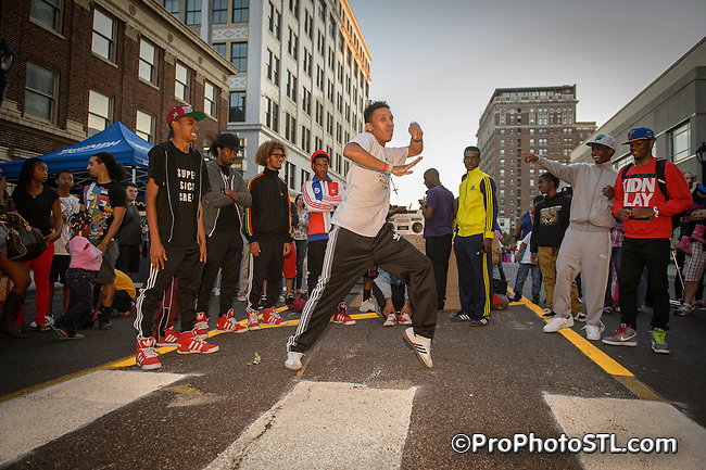 Dancing in the Street Festival at Grand Center in St. Louis, MO on Sept 29, 2012.