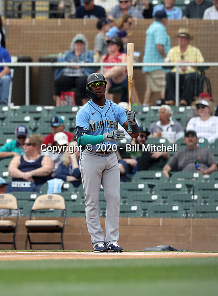Shed Long - Seattle Mariners 2020 spring training (Bill Mitchell)