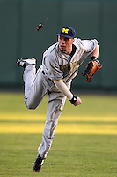 Michael O'Neill #10 of the Michigan Wolverines during the Big East-Big Ten Challenge vs. the Louisville Cardinals at Al Lang Field in St. Petersburg, Florida;  February 18, 2011.  Louisville defeated Michigan 6-3.  Photo By Mike Janes/Four Seam Images