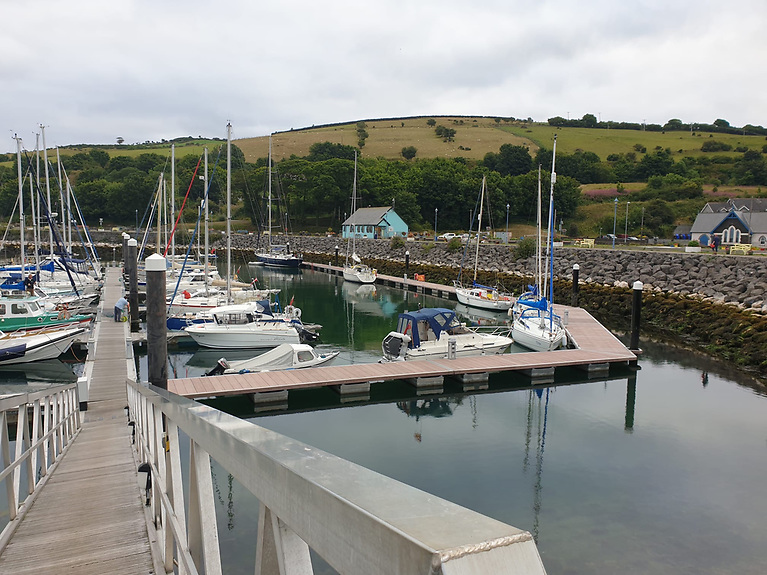 Glenarm Marina can be a base for visitors to explore both the Glens of Antrim and the Causeway Coastal Route