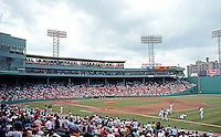 Ballparks: Boston Fenway Park. Panorama. Before the game Sat., June 1, 1991.