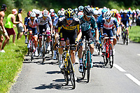 10th July 2021; Carcassonne, France;  TEUNISSEN Mike (NED) of JUMBO-VISMA during stage 14 of the 108th edition of the 2021 Tour de France cycling race, a stage of 183,7 kms between Carcassonne and Quillan.