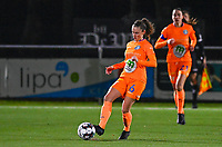Emma Van Britsom (6) of AA Gent pictured during a female soccer game between  Racing Genk Ladies and AA Gent Ladies on the eleventh matchday of the 2020 - 2021 season of Belgian Scooore Womens Super League , friday 22 th of January 2021  in Genk , Belgium . PHOTO SPORTPIX.BE | SPP | DAVID CATRY