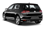 Car pictures of rear three quarter view of a 2014 Volkswagen Golf R 5 Door Hatchback 4WD Angular Rear