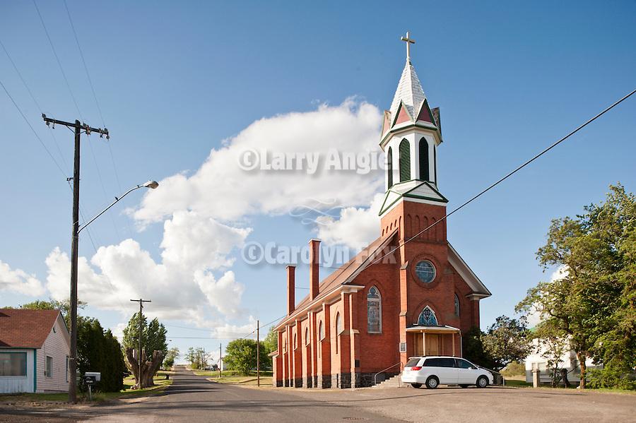 Red brick church: Mary, Queen of Heaven, Sprague, Wash.