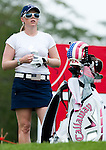 CHON BURI, THAILAND - FEBRUARY 17:  Morgan Pressel of USA adjusts her glove on the 16th green during day one of the LPGA Thailand at Siam Country Club on February 17, 2011 in Chon Buri, Thailand.  Photo by Victor Fraile / The Power of Sport Images